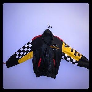Original Race Rock leather bomber jacket XL 90s